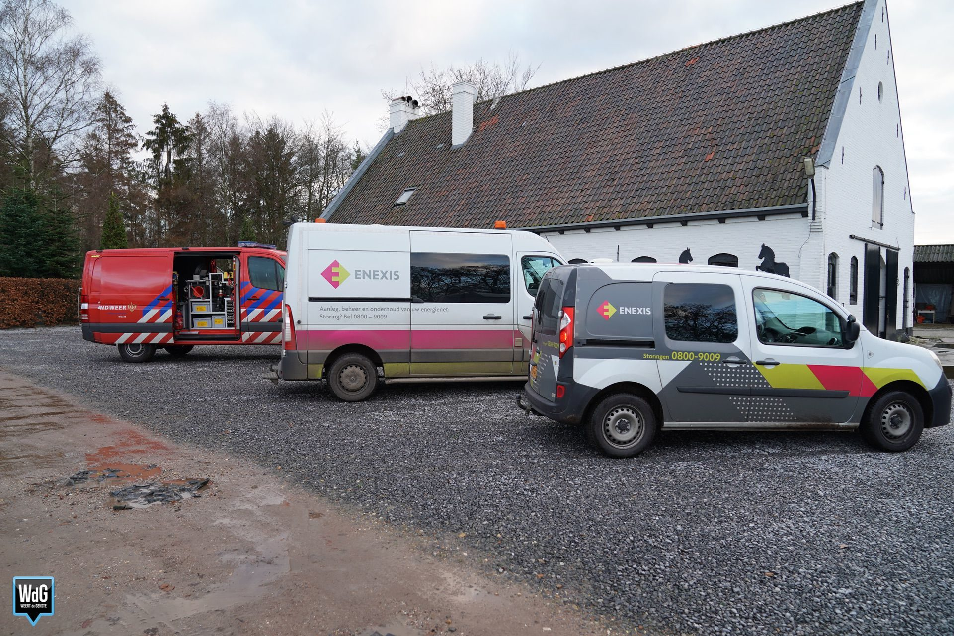 Stroomstoring na knal Kettingdijk