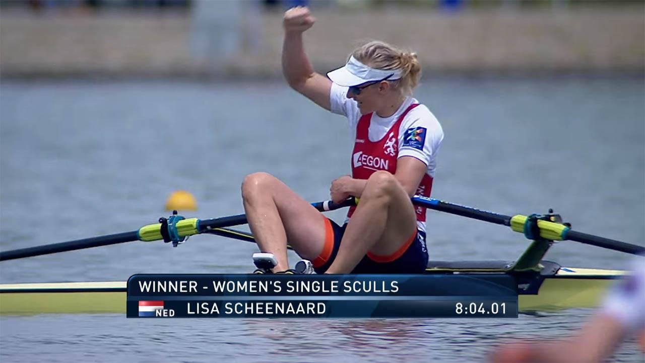 Lisa Scheenaard pakt goud