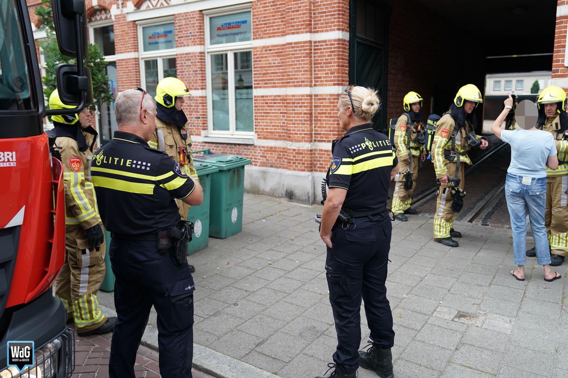 Brand in meterkast op Maaspoort