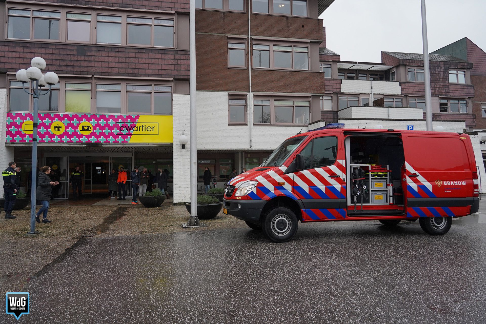 Brandweer rukt uit voor te lang verwarmde croissant in Cwartier
